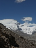 View of Mt. Everest during a sampling expedition