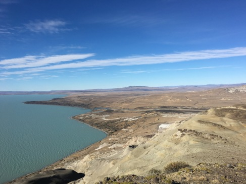 A the top of our final fluvial section, looking east from Lago Viedma