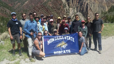 Summer Field Geology class 2018, Uinta Mountains, UT